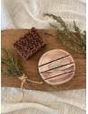 COFFRET : Savon végétal gommant propolis + Porte savon en bois